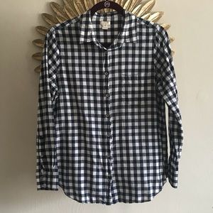 J. Crew • Gingham Button Down